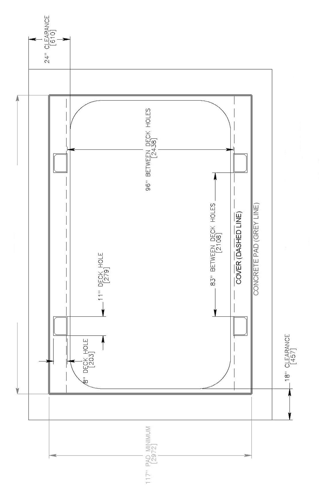 Covana Legend Swim Spa footprint