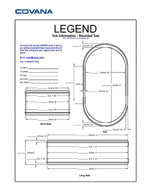 Covana Legend rounded swim spa information form for cover